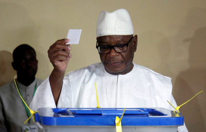 President Ibrahim Boubacar Keita who is the candidate for Rally for Mali party