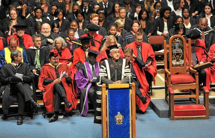 Nurturing academic talent: A Rhodes University graduation ceremony.