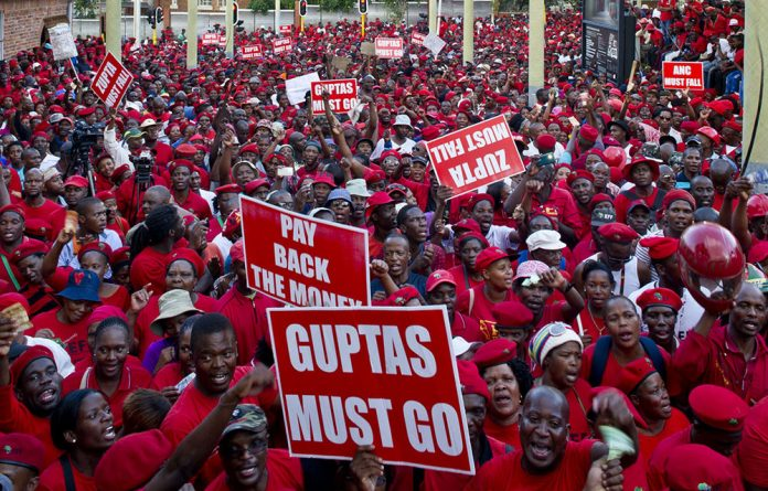 Economic Freedom Fighters members flooded the streets ahead of Zuma's court appearance relating to the non-security upgrades on his Nkandla home.