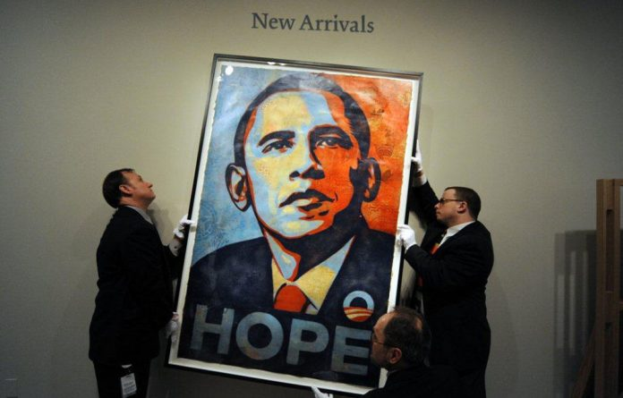 US artist Shepard Fairey's poster