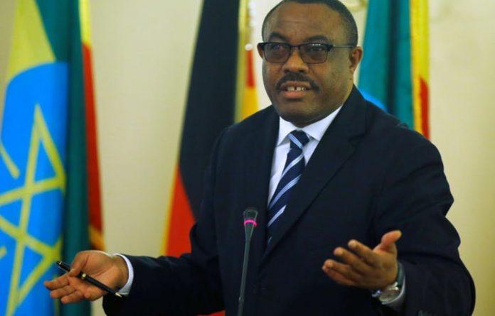 Outgoing Ethiopian premier Hailemariam Desalegn.