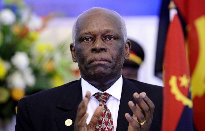 Angola's President José Eduardo dos Santos.