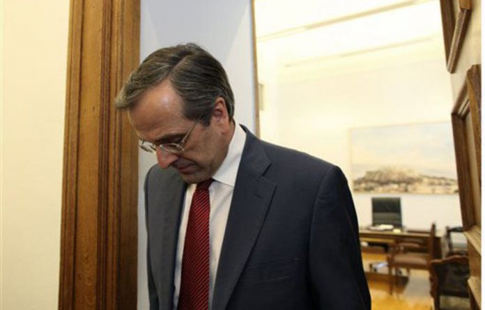 New Democracy leader Antonis Samaras.