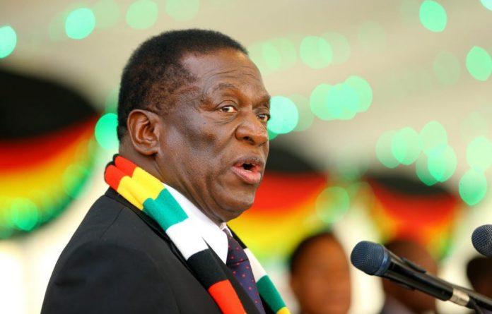 Zimbabwe president Emmerson Mnangagwa.