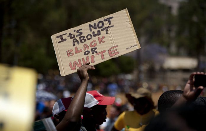 Students at the Fees Must Fall protests.