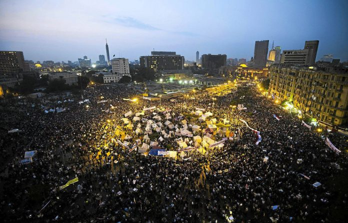 Thousands protested in Cairo's Tahrir Square on Tuesday