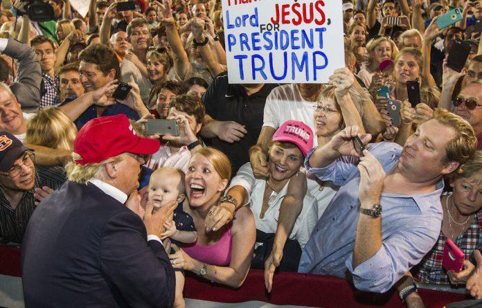 Big-top politics: Despite leading in the opinion polls