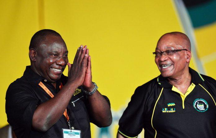 Cyril Ramaphosa and Jacob Zuma.