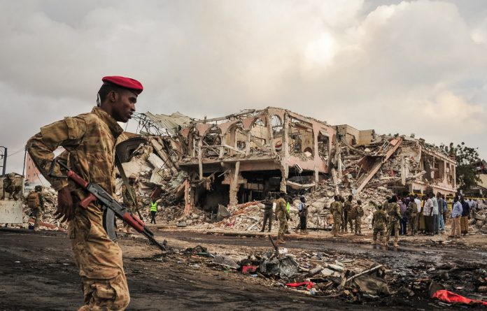 Devastation: More than 300 people were killed and 300 wounded in a truck bombing in Mogadishu in October 2017. No one claimed responsibility