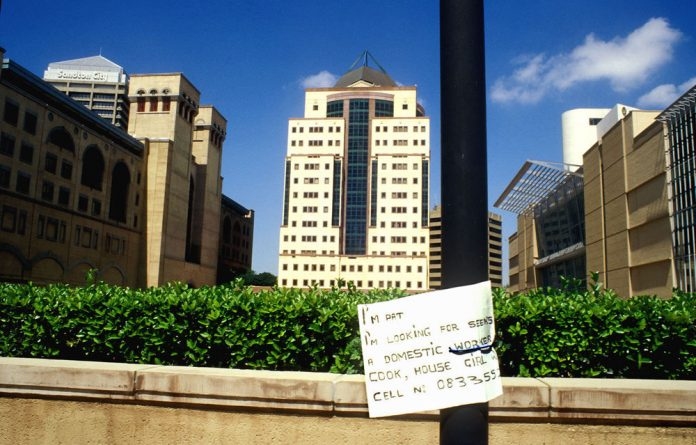 Hotels and office blocks in Sandton and a notice for employment
