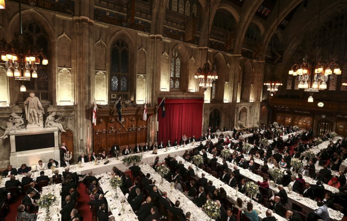 President Cyril Ramaphosa speaks at the Commonwealth Business Forum Banquet in London in April.