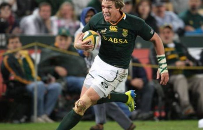Springbok captain Jean de Villiers.