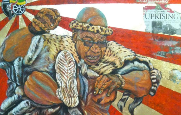The ANC has condemned a new painting of President Jacob Zuma with his genitals exposed.
