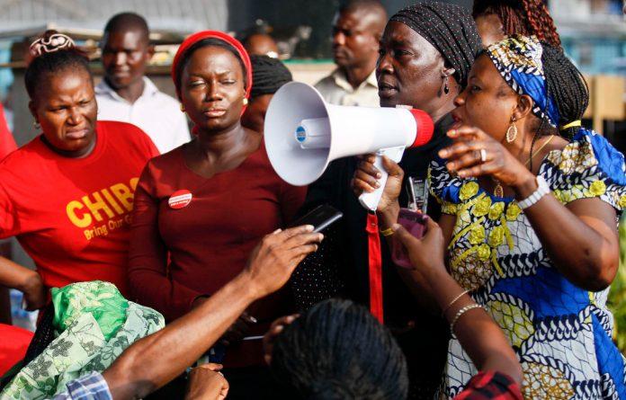 Protests against Boko Haram.