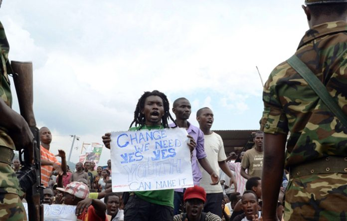 Protests in Burundi have left at least five people dead.
