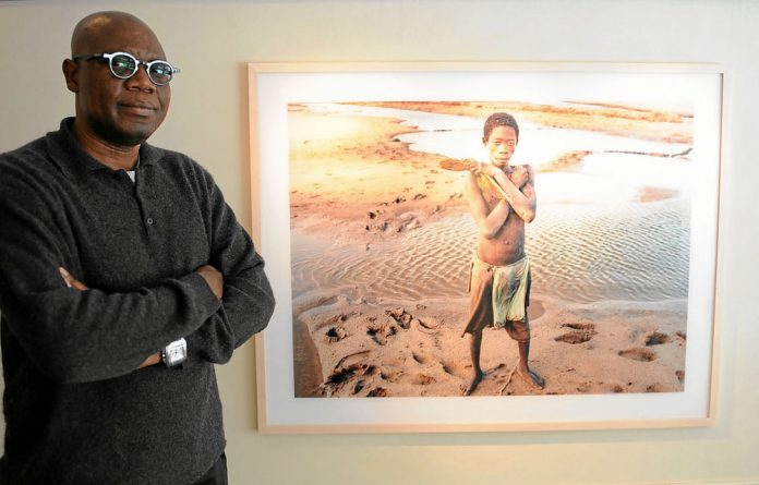 Zwelethu Mthethwa at a recent exhibition.