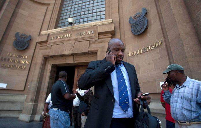 Bosasa board members after a South Gauteng court hearing in February.