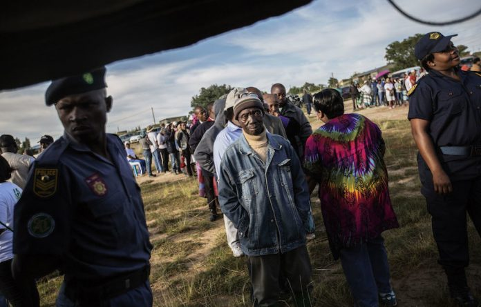 Southern Africa Development Community mission police were brought in to watch over elections.