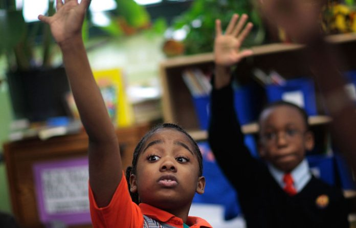Tyler Smalls and Sekou Cisse are grade 3 pupils at Harlem Success Academy