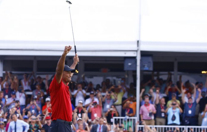 Tiger Woods wins his first US Masters since 2005.