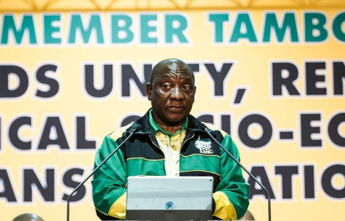 Ramaphosa was in Seshego — the home town of Economic Freedom Fighters
