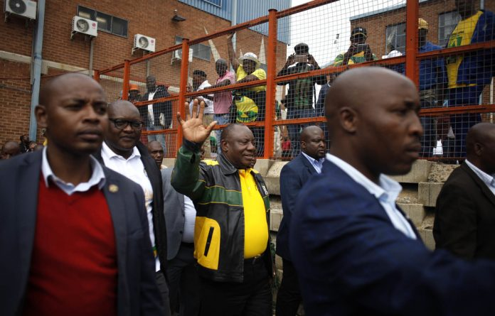 """Ramaphosa told those in attendance in Alexandra that he understands their grievances. """"We must respond to the pain and the suffering that our people are going through."""