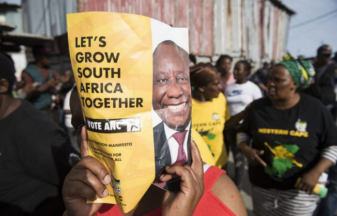 Support for Cyril Ramaphosa's presidency has grown.