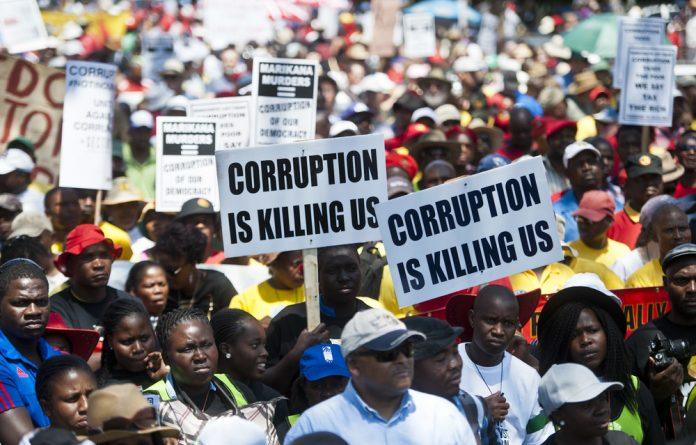 Gatvol: Citizens march to the Union Buildings in Pretoria protesting against corruption in government.