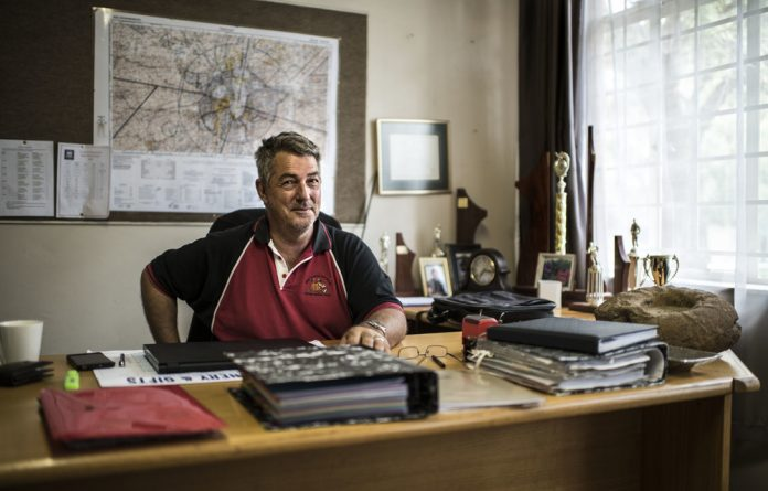Leader: Hermann Overbeek has been at Nooitgedacht 88 primary school for 35 years and has seen the school through a number of changes