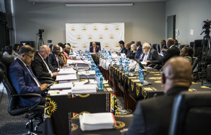 Judging: The Judicial Service Commission interviewed Constitutional Court candidates. Photo: Delwyn Verasamy