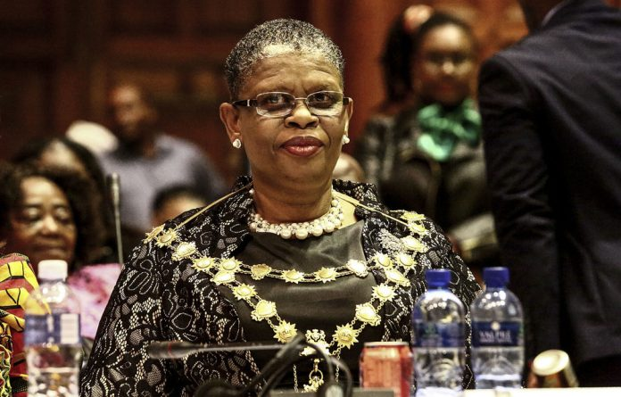 In the balance: Zandile Gumede was granted bail during a court appearance for tender fraud.