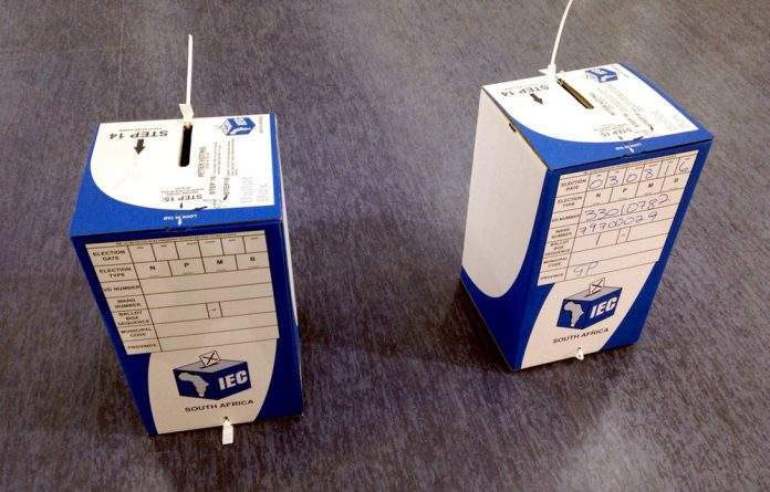 Votes were being transferred from ballot bags to ballot boxes as special votes kicked off on Monday.