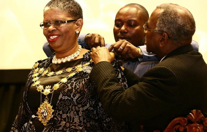 Mayor Zandile Gumede in happier times. Gumede appeared before the Durban Commercial Crimes Court on charges of municipal tender fraud amounting to R130-million.