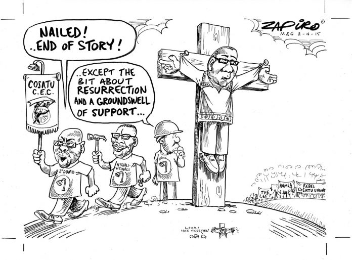 Zapiro: The end of Vavi's Cosatu