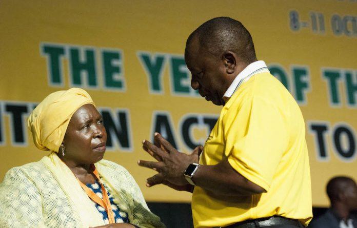 Minister in the Presidency Nkosazana Dlamini-Zuma briefed journalists on the inauguration of president-elect Cyril Ramaphosa