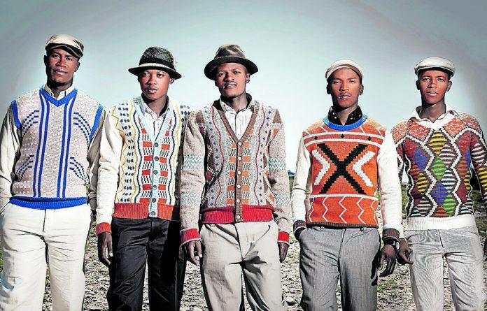 International knitwear designer Laduma Ngxokolo