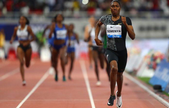 Semenya won the 800m at the Diamond League meet in Doho
