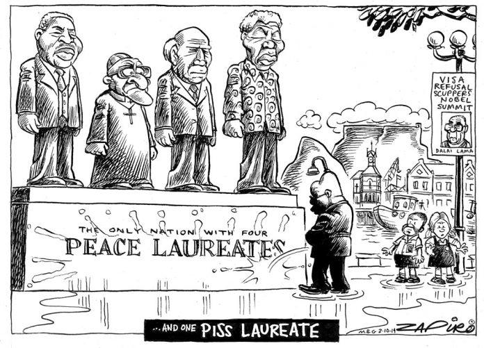 Zapiro: SA's four peace laureates
