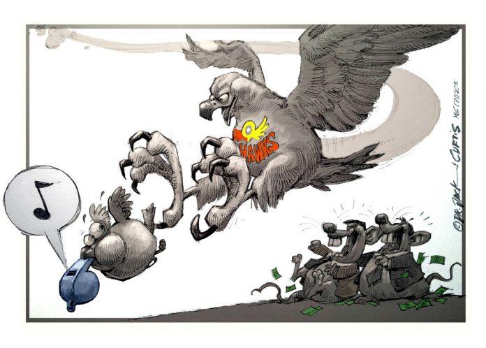 Zapiro: The predatory Hawks swoop