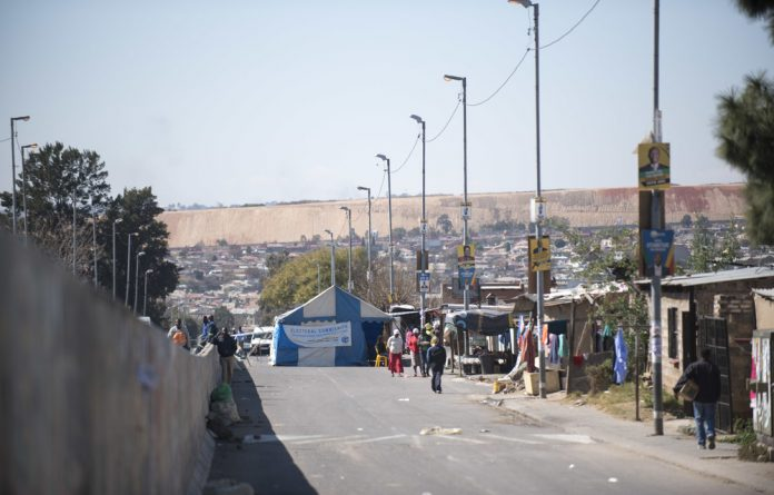 A voting station in Soweto