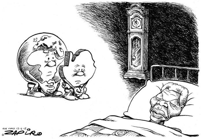 Zapiro: The world's at Madiba's side