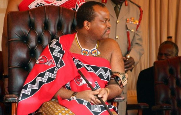 King Mswati III.