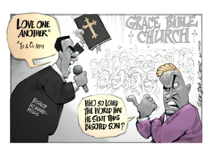 Zapiro: Who so loved the world that he sent this bigoted son?