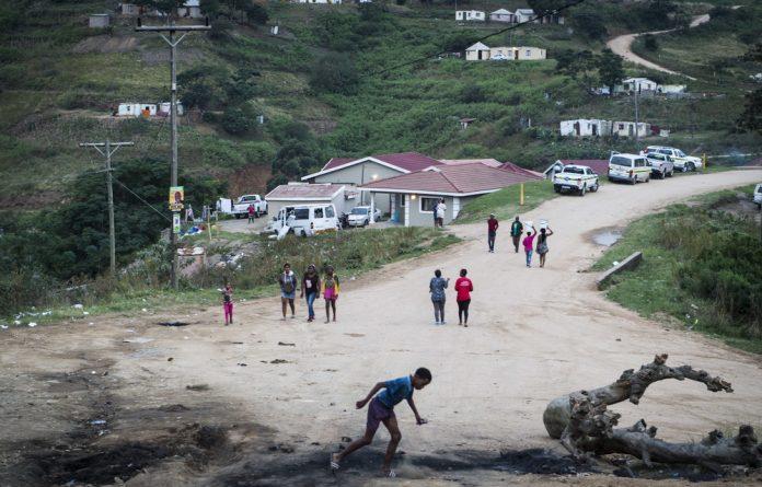 Uphill battle: At Isulabasha Primary School