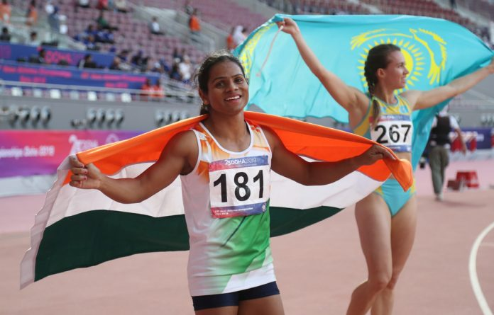 Indian athlete Dutee Chand.