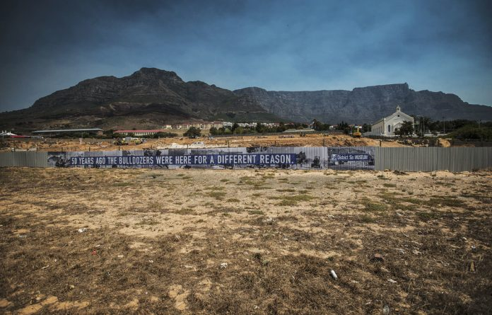 A place of one's own: The construction site for phase three of District Six's redevelopment. About 60000 people were forcibly removed from 1968 onwards and most buildings were razed.