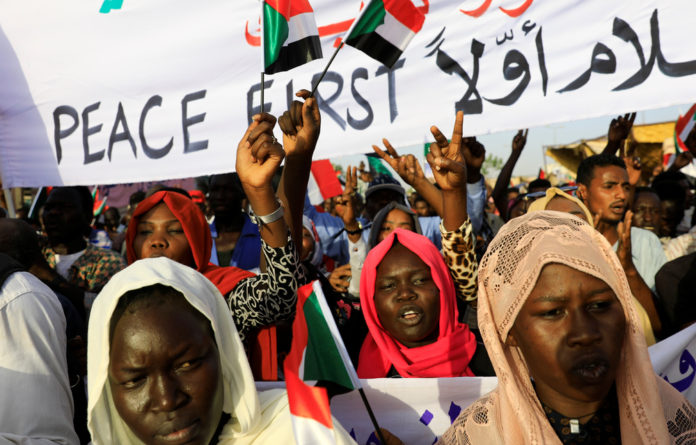 Rallies against former president Omar al-Bashir's authoritarian
