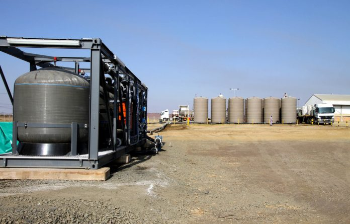 Keep on trucking: This mobile filtration plant at Astral's Goldi factory processes 3.5 megalitres of water a day.