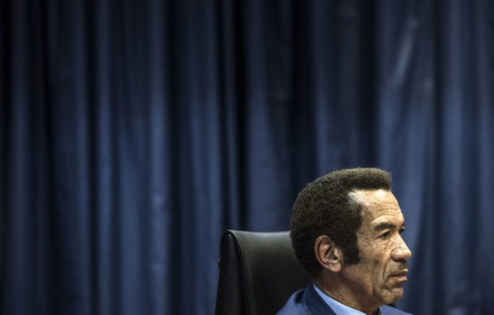 Messy divorce: Ian Khama resigned from the Botswana Democratic Party in April