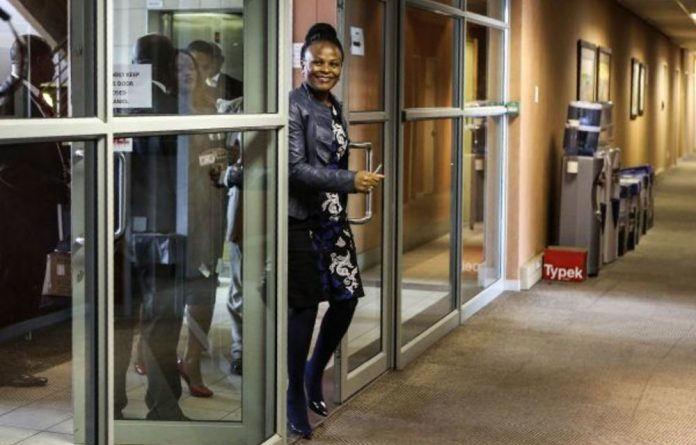 Watching her step: On Monday the Constitutional Court upheld the high court's personal costs order against public protector Busisiwe Mkhwebane in the Absa-Bankorp matter.